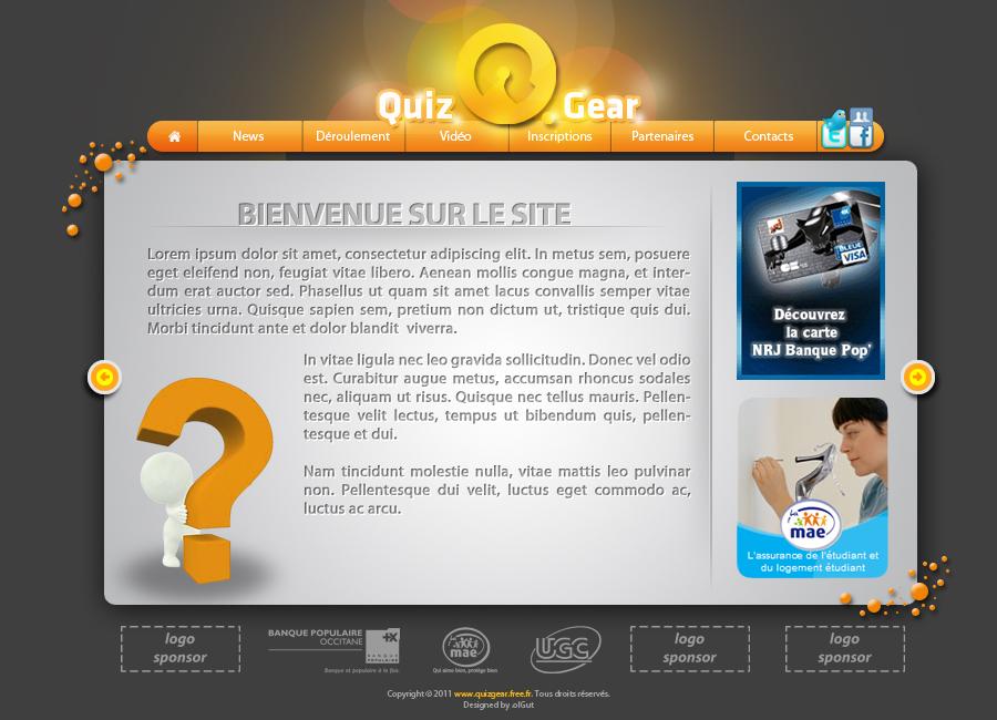 Quiz GEAR web site