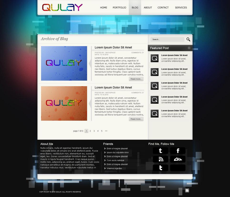 Qulay Blog Template