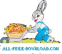 Rabbit with Carrots 1