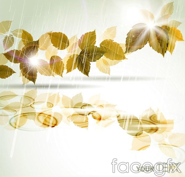 Rain leaves vector
