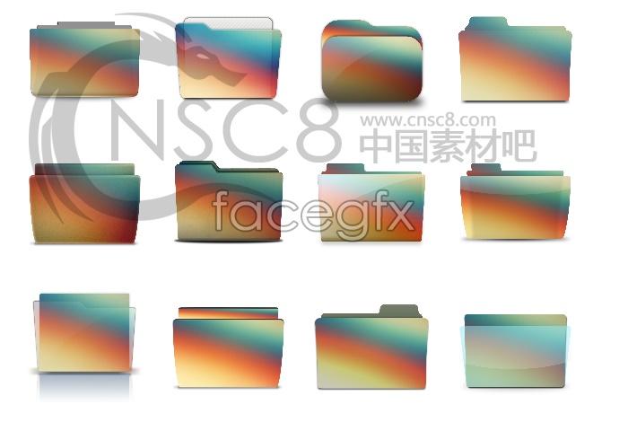 Rainbow folders icons