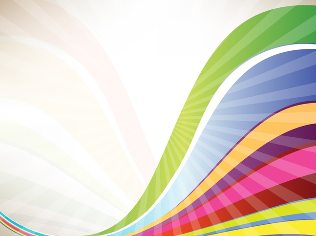 Rainbow Waves vector free