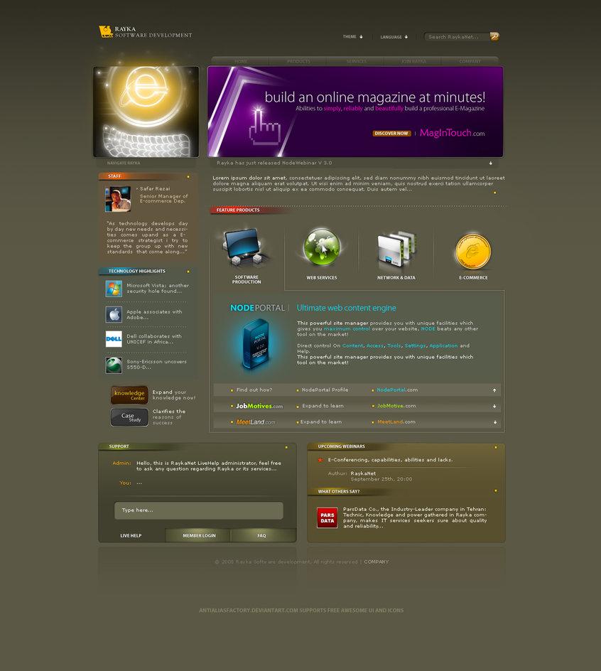 Rayka Web Template