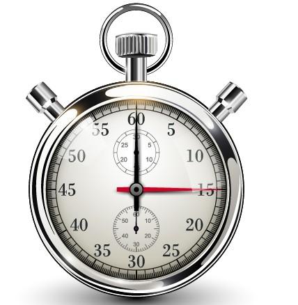 Realistic stopwatch creative vector set 03 free
