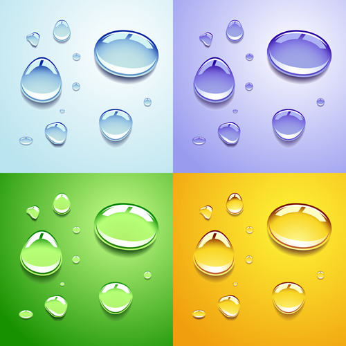 Realistic water drop vector background 03 free – Over millions