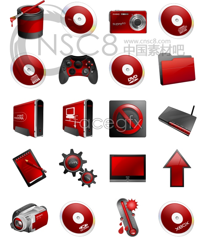 Red alert system icon
