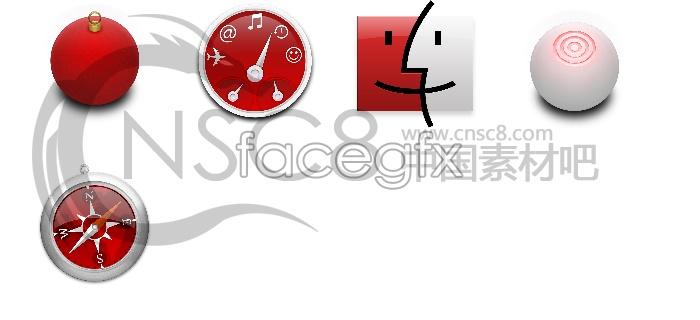 Red Apple desktop icons