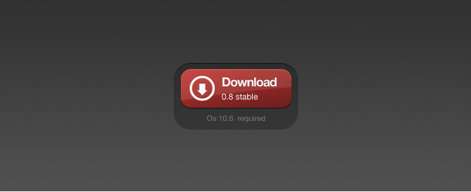 Red Download Button PSD