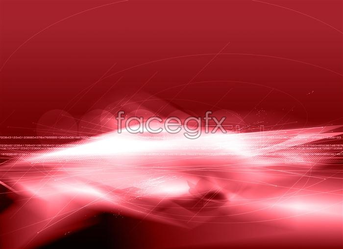 Red dynamic colorful rendering of light dynamic effects PSD