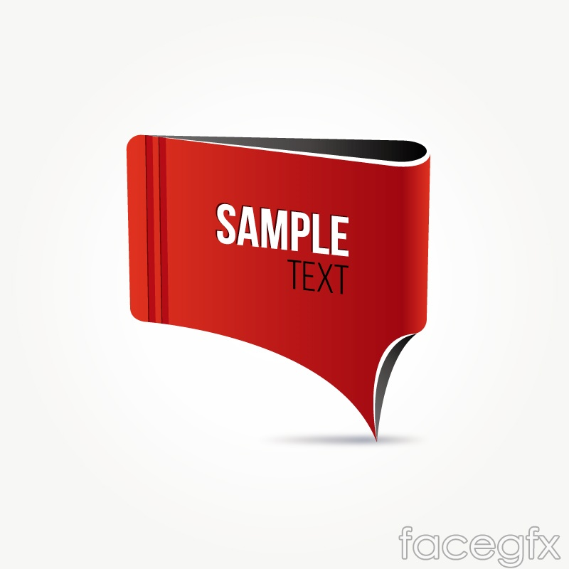 Red paper tag vector – Over millions vectors, stock photos