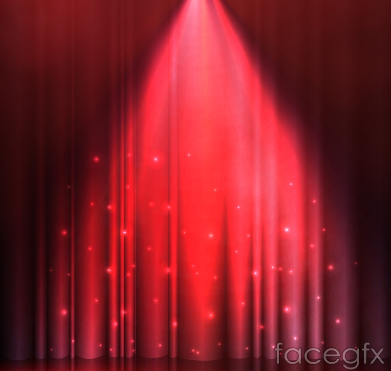 Red spotlight stage background vector – Over millions