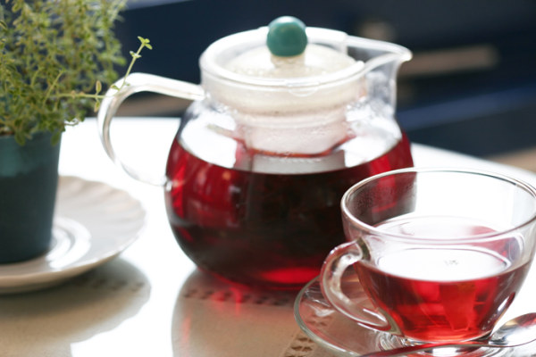 Red tea Teapot and Tea Cup PSD