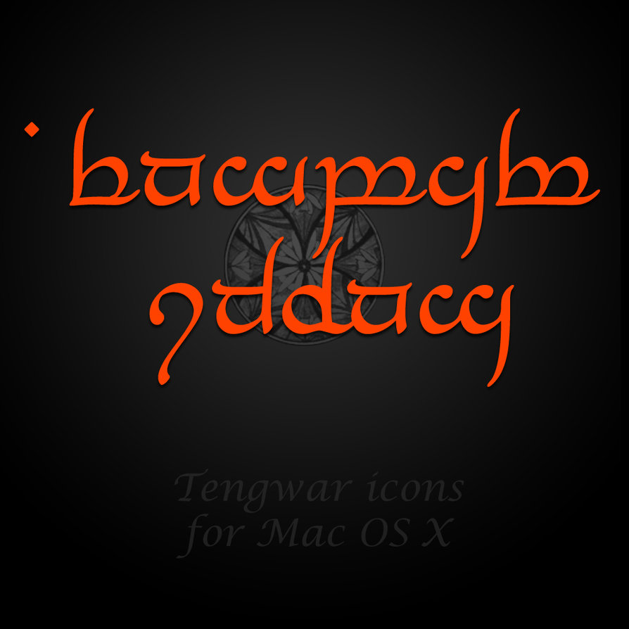 Red Tengwar icons