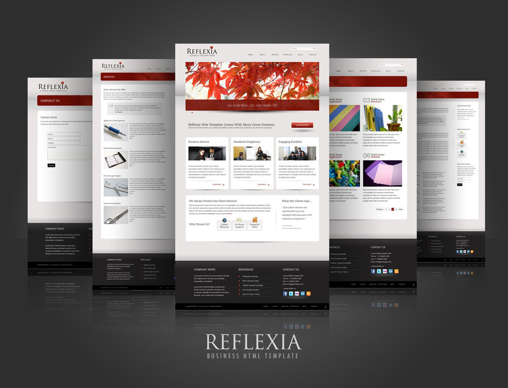 Reflexia – business html template – Over millions vectors, stock ...