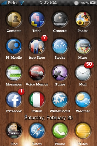 Release- Eternal iPhone Theme