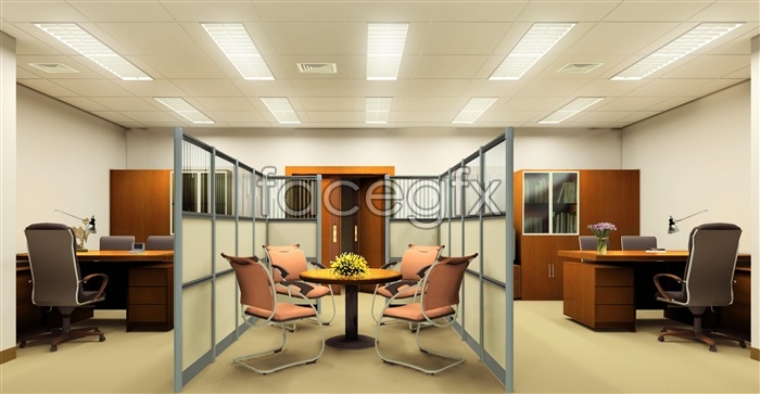 Rendering of interior commercial office psd – Over millions