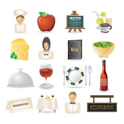 restaurant kitchen icon 02 vector