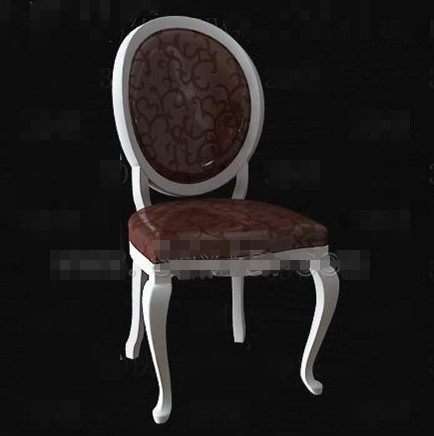 Retro brown wooden chair 3D Model
