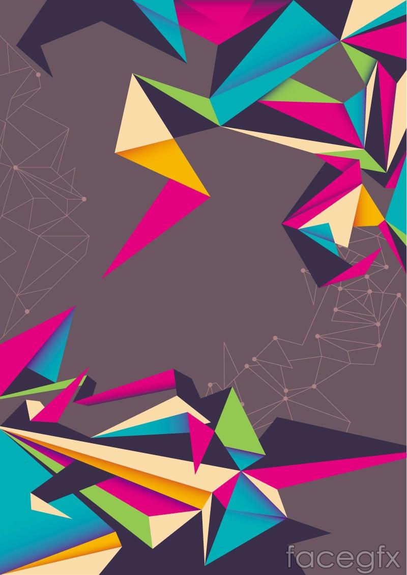 Retro colorful origami background vector over millions vectors retro colorful origami background vector toneelgroepblik Image collections