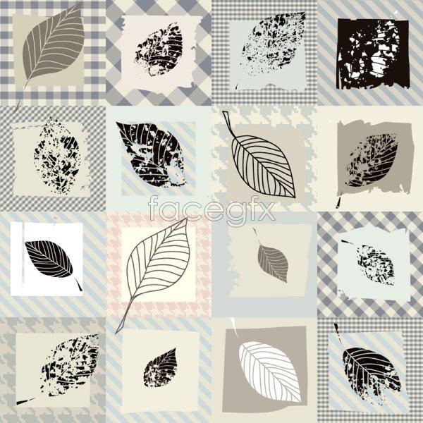 Retro leaf pattern Vector