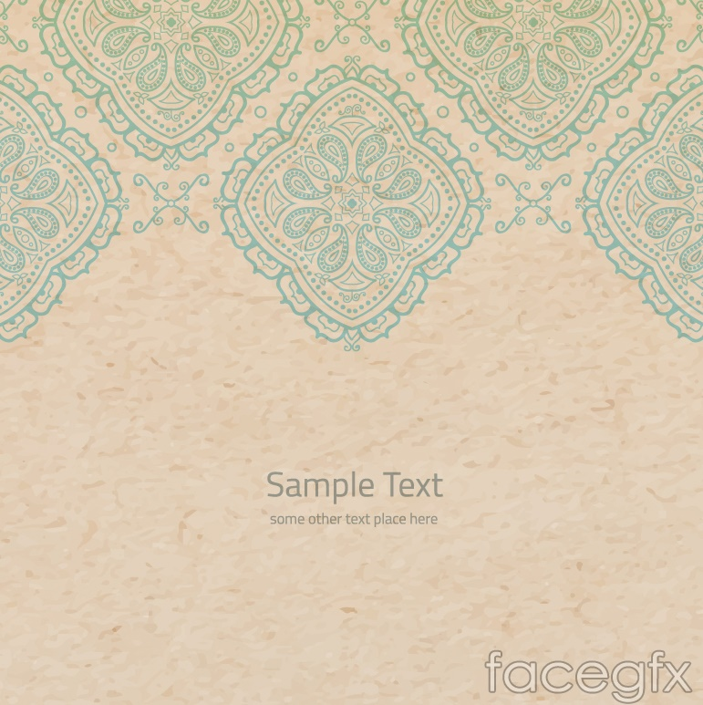 Retro patterned paper background vector