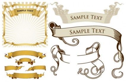 Retro ribbon banner vector – Over millions vectors, stock