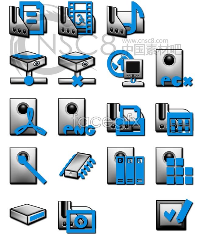 Retro style file icon 2