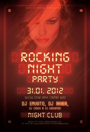 Rocking Night Party Flyer