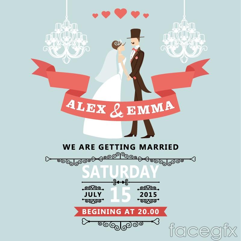 romantic wedding poster design vector over millions vectors stock