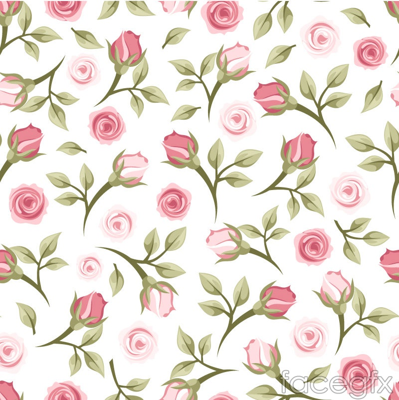 Rose Flower Vector Seamless Background Over Millions