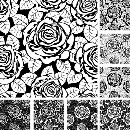 Rose Pattern Background 02 Vector Over Millions Vectors Stock