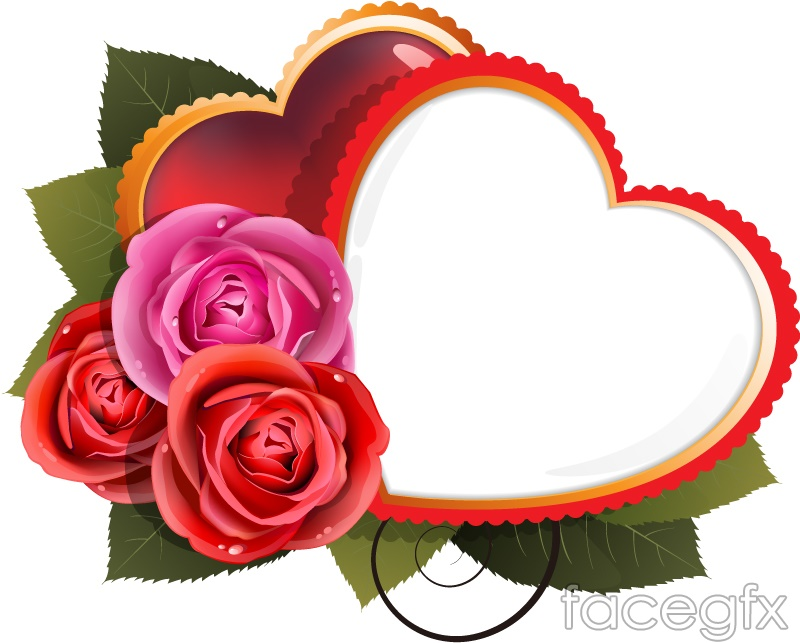 Roses And Love Background Vector Over Millions Vectors
