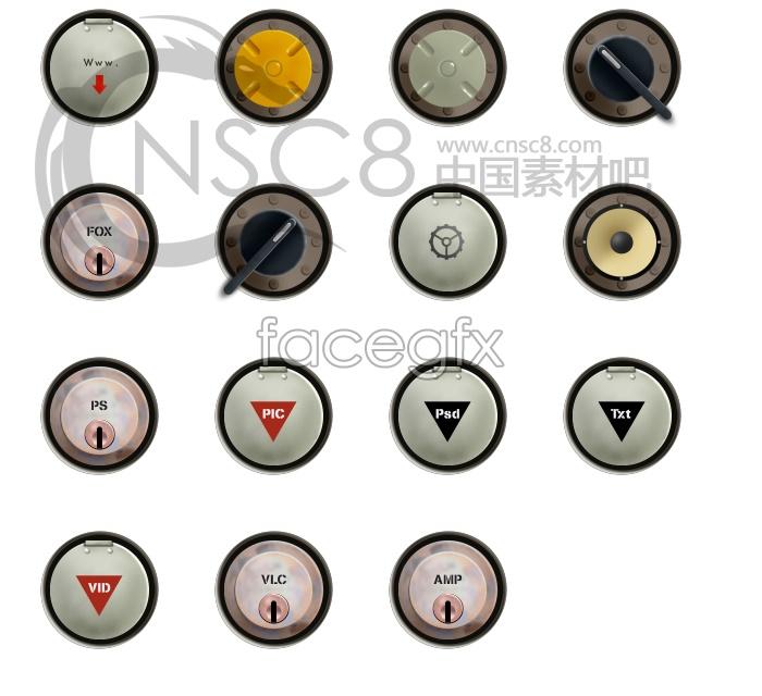 Round metal texture icon