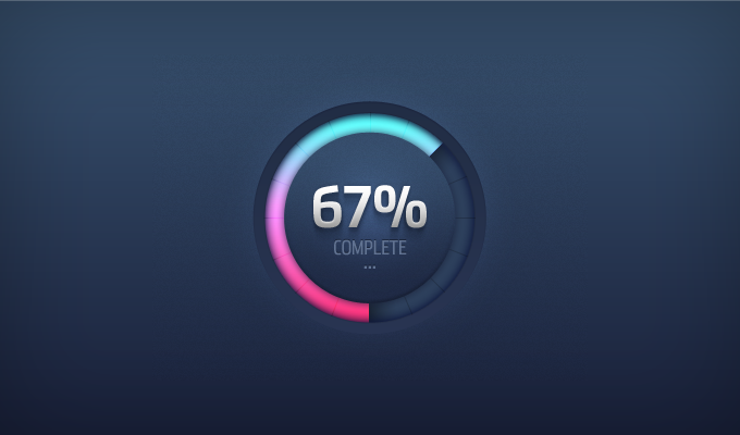 Round Progress Meter PSD