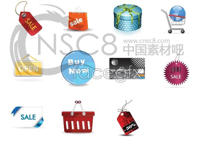 Sales discount desktop icons