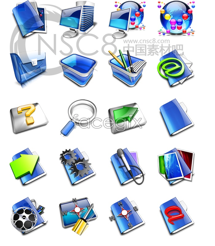 Sapphire series system icons