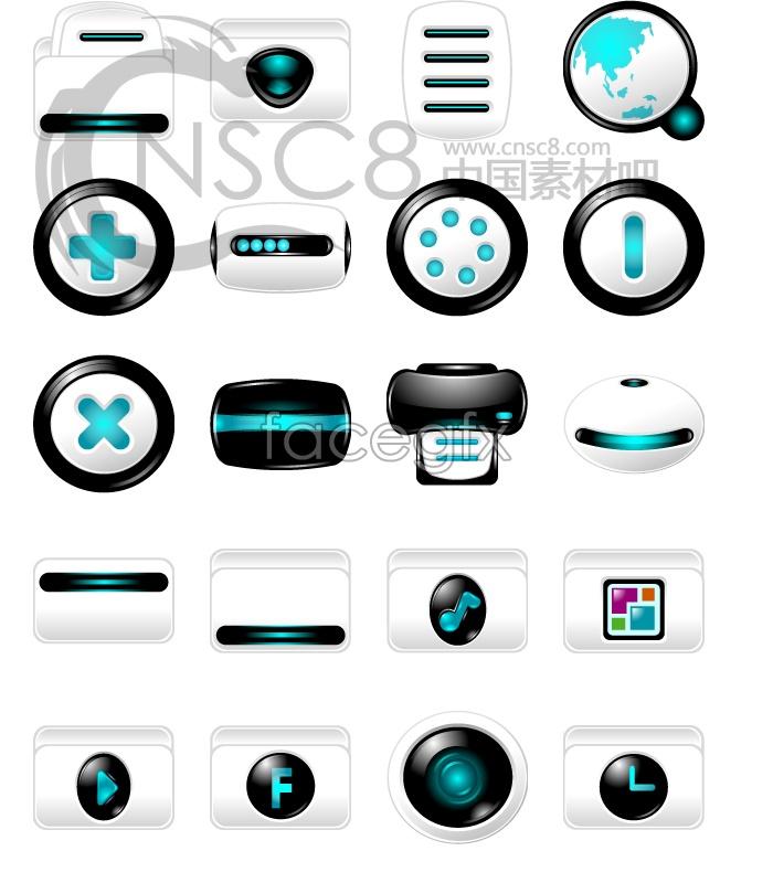Science computer desktop icons
