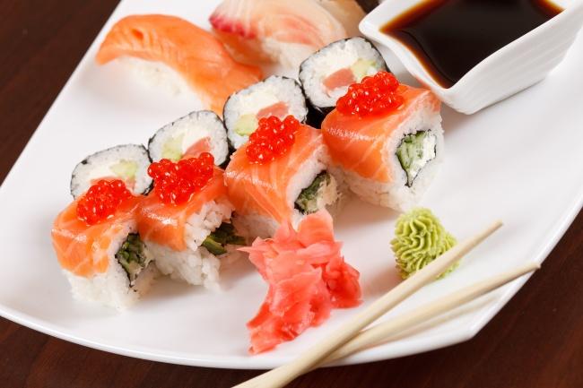 Seafood sushi PSD
