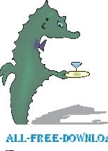 Seahorse with Cocktail