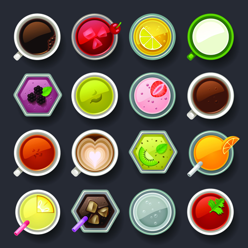Set of best food icons vectors graphics 01 free