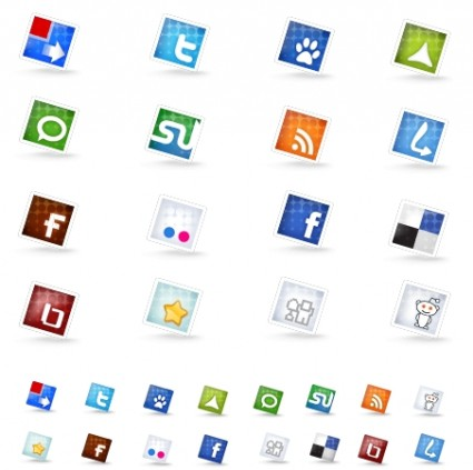 Set of social icons icons pack