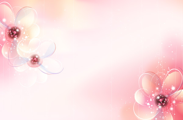 Shades of romantic flower background PSD
