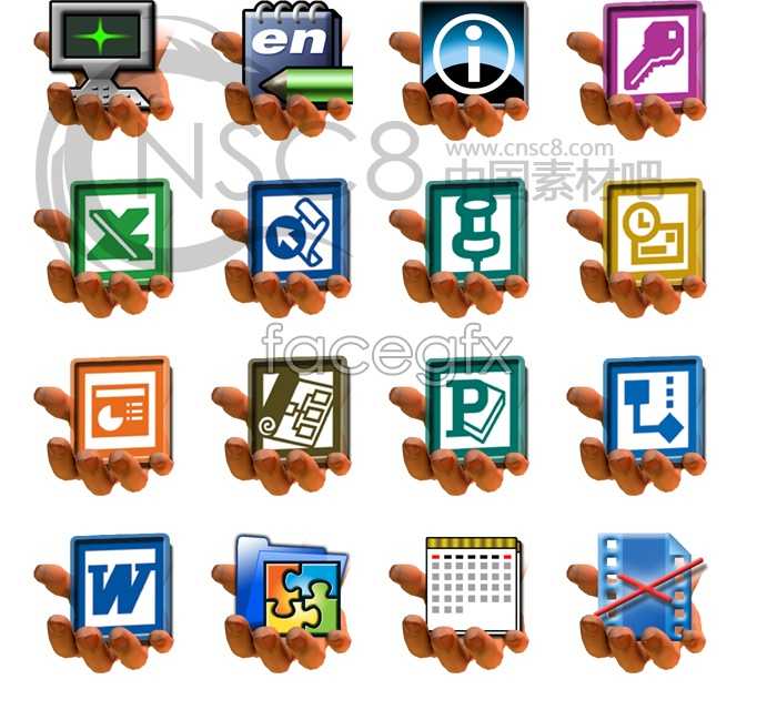 Share software icon series