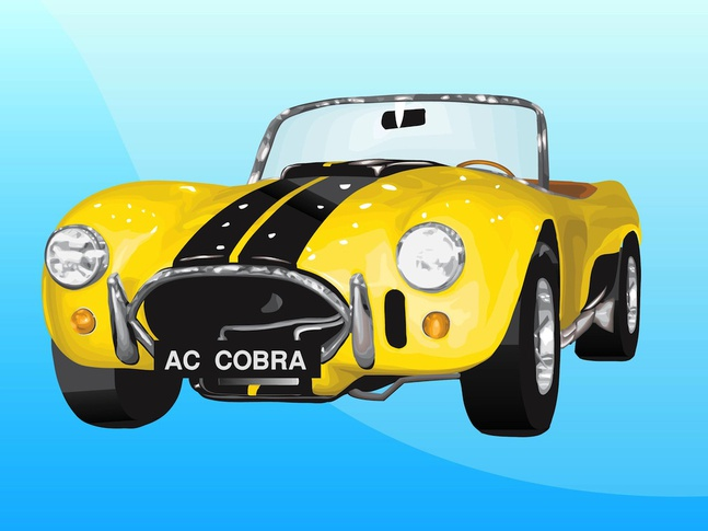 Shelby Cobra vector free