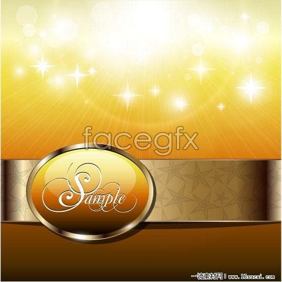 Shining star background vector