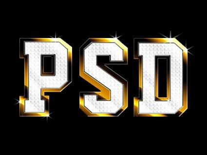Shiny Metal Text Effect PSD