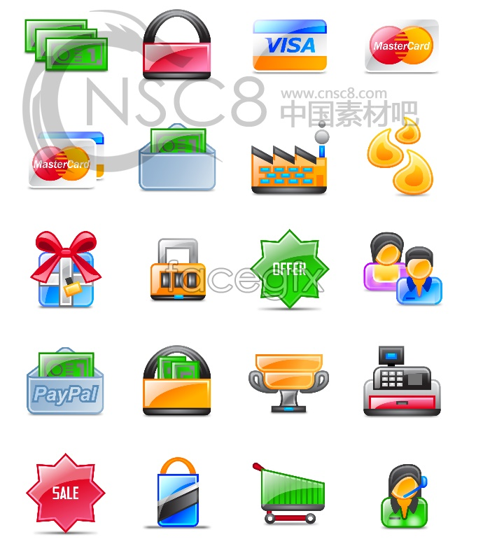 Shopping appliances, desktop icons
