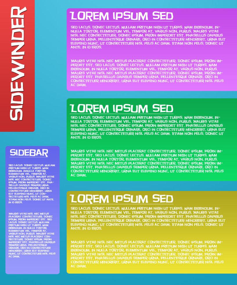 Sidewinder HTML website templa