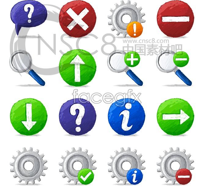 Simple button desktop icons