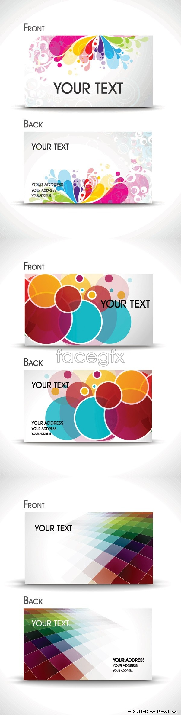 Six brilliant business card template vector